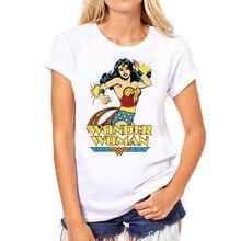 Galeria de wonder woman shirt por Atacado - Compre Lotes de wonder woman  shirt a Preços Baixos em Aliexpress.com f534cd5af2312