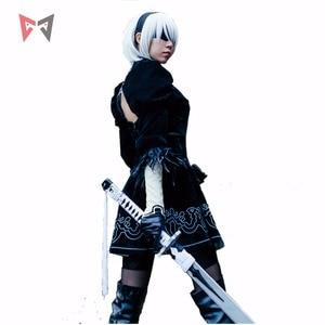 Image 2 - Athemis NieR Automata Cosplay Costumi YoRHa No. 2 di Tipo B cosplay costume 2B set formato su ordine