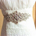 Luxurious Crystal  Bridal Sash Shining Rhinestone Handmade Waistband Formal Wedding Evening Dress Belts Wedding Accessories