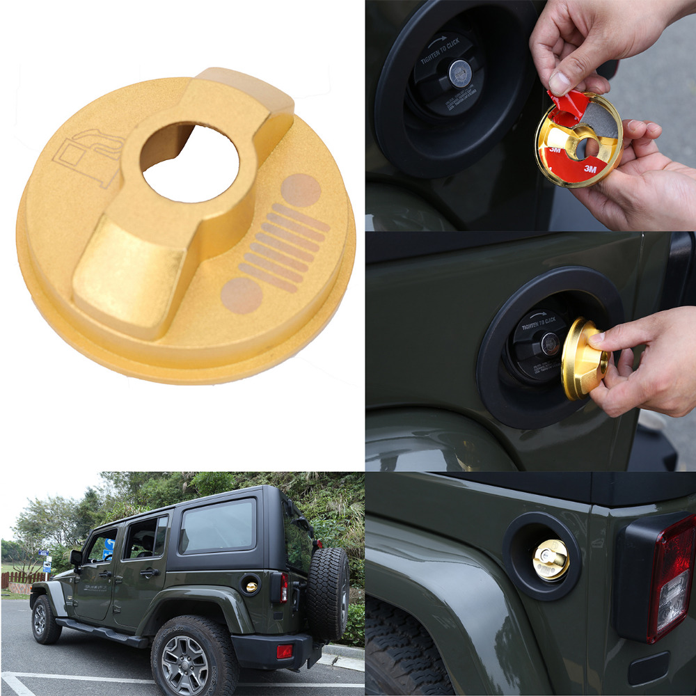 Car Inner Fuel Gas Oil Filter Tank Cap Cover Fit For Jeep Wrangler Jk Unlimited 2 4d Red Silver Blue Gold In Covers From Automobiles Motorcycles On