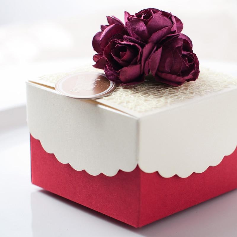 Creative (50pcs/Lot)DIY Paper Wedding Favor Decorative Gift Boxes ...