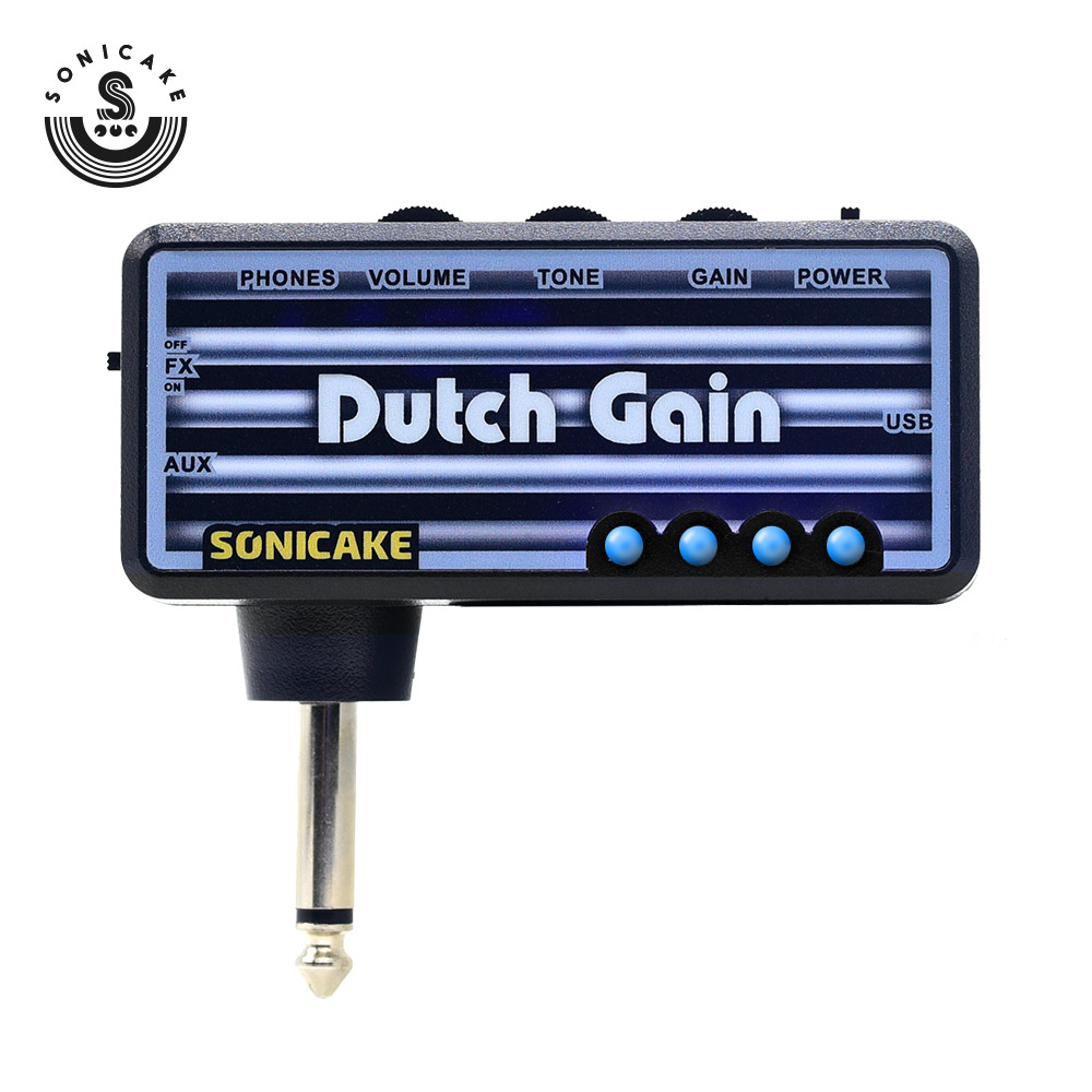 Sonicake Dutch Gain Electric Guitar Plug Headphone Amp Mini Portable USB-chargeable Amplifier The Massive Pre-amp Distortion