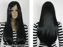 Wholesale heat resistant LY free shipping New wig Cosplay Black Long wig Straight Wig
