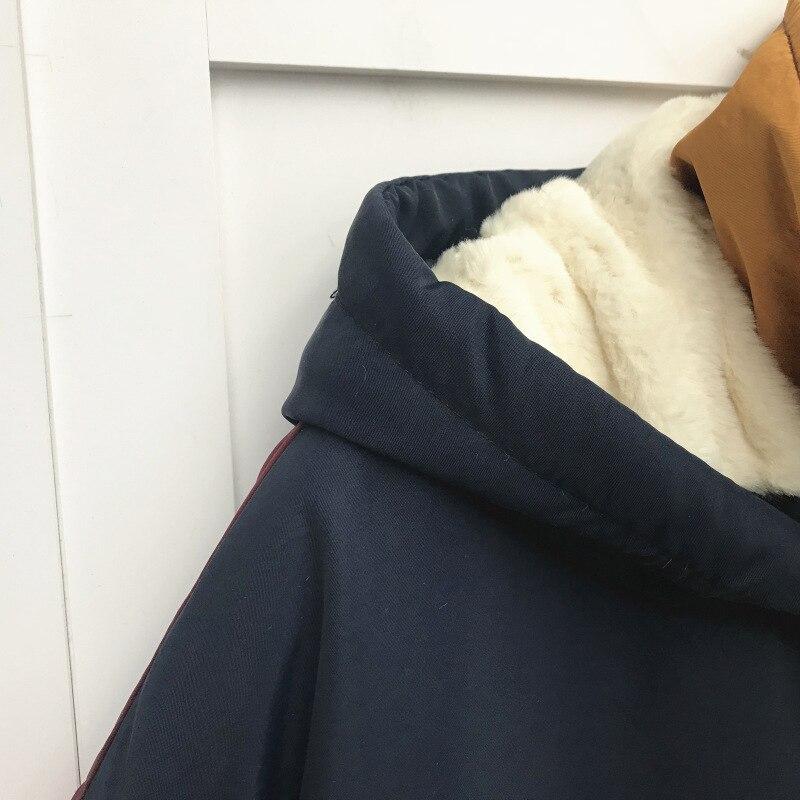 Manteau Liste Femme Multi Automne Brodé Feminino Mi Chaude 2018 Capuchon Longue Hiver Épais Femmes Parkas Veste À Parka Doublure 1SqfUS