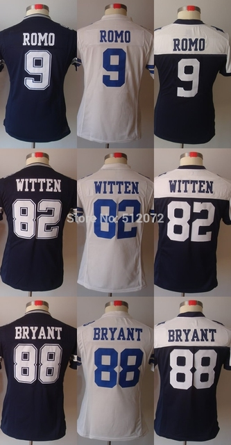 Low-cost selling  Women's Ladies Authentic #9 Tony Romo #82 Jason Witten #88 Dez Bryant Football Jersey