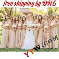 الشحن dhl النساء صيف طويل فستان ماكسي اللباس للتحويل لانهائية متعددة الاتجاهات العروس المرأة التفاف اللباس كامل طول اللباس الرسمي