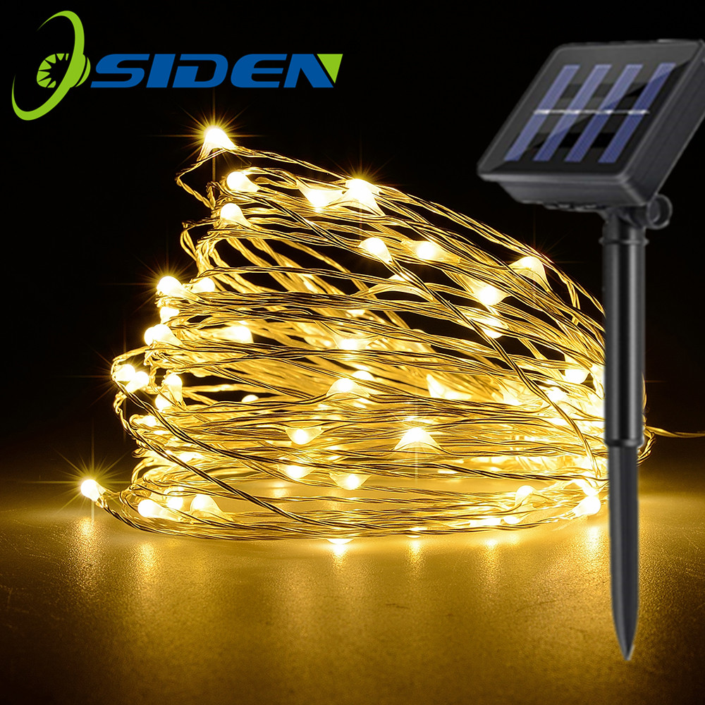 LED Holiay Light Solar Outdoor 7M12M22M LEDs String Lights Fairy Holiday Christmas Party Garland  Garden Waterproof Lights