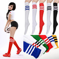 1Pair / 1lot Fashion  7 style wellies socks sale thickness long socks for women's winter boots girls striped over knee socks