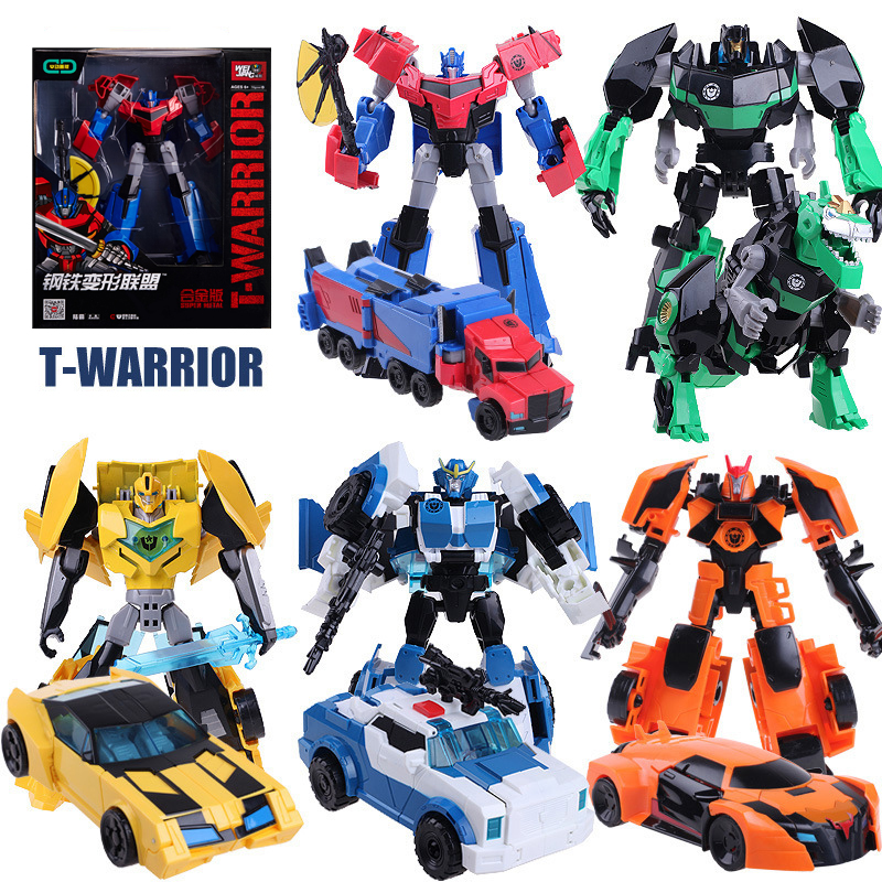 NEW Anime Action Figure Toys Transformation 4 Robot Car ABS Alloy Plastic Class Cool Model Boy Toy brithday Christmas Gifts