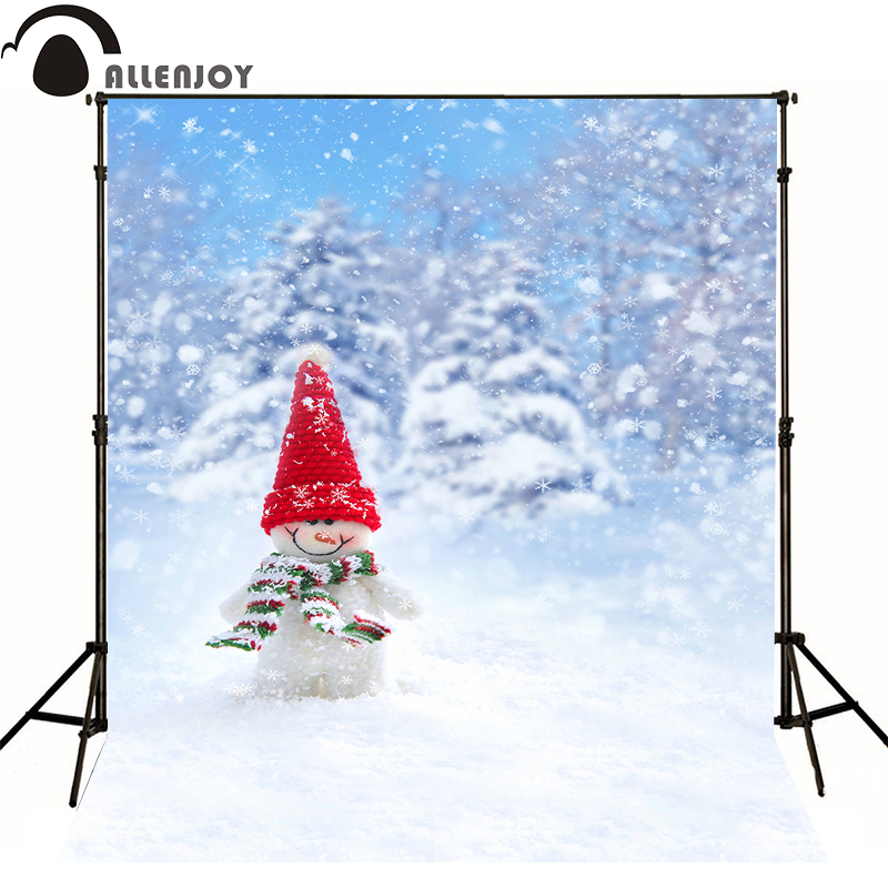 Allenjoy photographic background Christmas snowman snow winter kids boy photocall photo studio wallpaper christmas photographic background snow snow in winter new year photo vinyl cloth year of the rooster