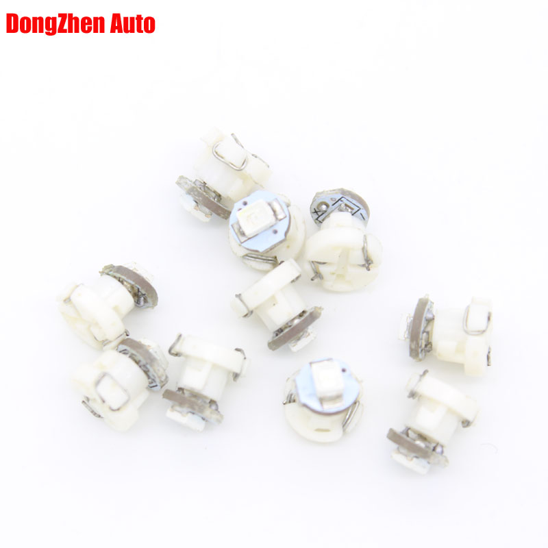Dongzhen 10X <font><b>T3</b></font> <font><b>12V</b></font> LED Car Interior Lighting Neo Wedge LED Bulb Cluster Instrument Dash Climate Base Light Source Xenon Lamp image