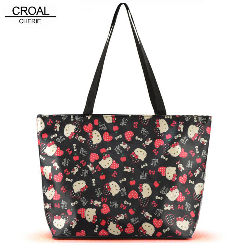 30.5*43*14cm Hello Kitty Baby Diaper Bag For Mother Waterproof Maternity Tote Bag Organizer Big Mom Nappy Bags Pink Black