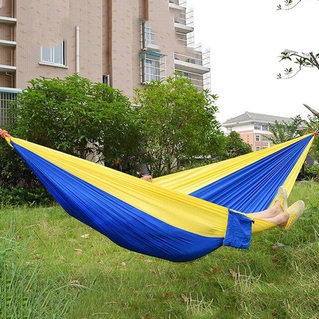 Color clasificado colgante cama de dormir nylon de paracaídas Telas ...