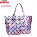 Miyak Issey bolso plegable de moda geométrica forma de diamante diamante PVC costura de lentejuelas bolso de hombro de las señoras bolso baobao