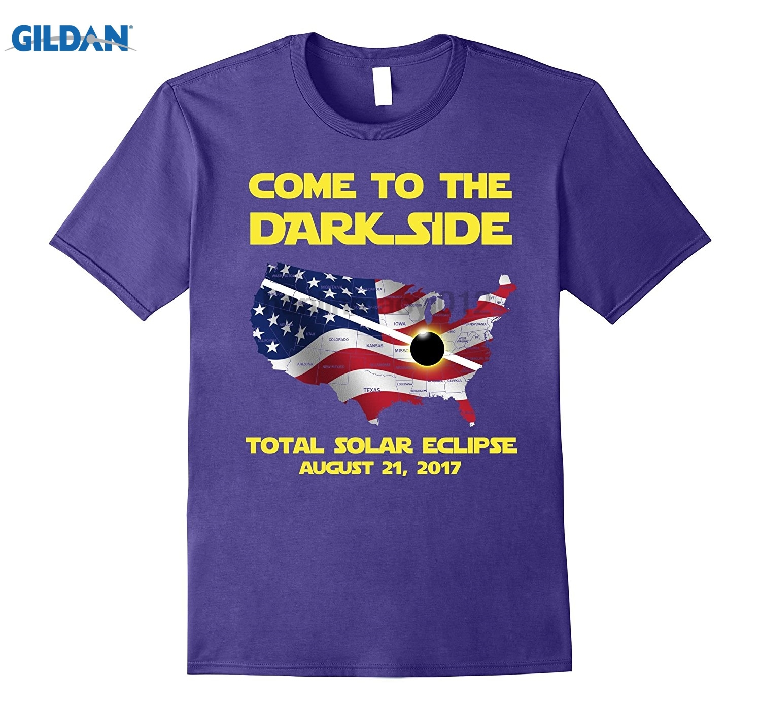 GILDAN Come to the Dark Side Total solar eclipse August 21 Hot Womens T-shirt sunglasses women T-shirt summer dress T-shirt
