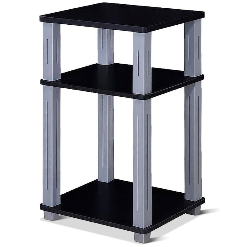 3 niveaux fin Table polyvalente étagère de rangement organisateur nuit Stand affichage rayonnage décor à la maison pour salon chambre HW60172