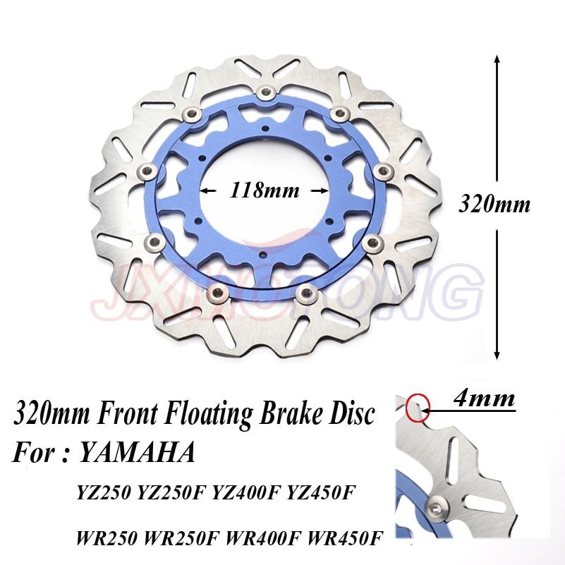 320MM Oversize Front Floating Brake Disc Rotor For YZF WRF YZ250 YZ250F YZ400F YZ450F WR250 WR250F WR400F WR450F Supermoto
