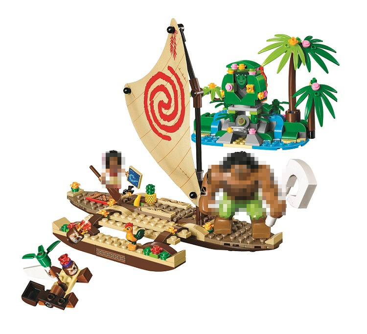 10663 309pcs Girls Friends Princess Vaiana Moana Ocean Voyage model Building Blocks compatiable legoes Toys For Children Gifts princess ponies 6 best friends for ever