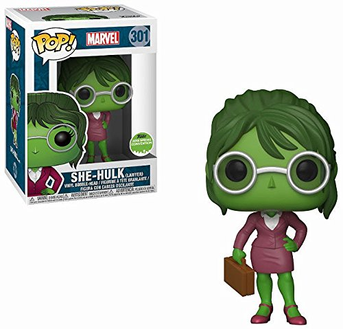 2018 SDCC Exclusive FUNKO POP Official Marvel: She-Hulk (Lawyer) Vinyl Action Figure Collectible Model Toy with Original Box image