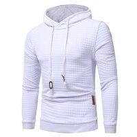 2017 Casual Autumn Quilt Plaid Hoodie Men Hooded Sweatshirt Brand NEW Hip Hop Black Hoodies Streetwear