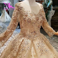 AIJINGYU вечерние платья Готический Роскошные Гуанчжоу Новые 2018 бюджет плюс размеры платье с рукавами мусульманские свадебные