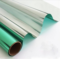 Green Silver Insulation Window Film Solar Reflective One way Mirror color window stickers for home and office decor 0.76 x 30m