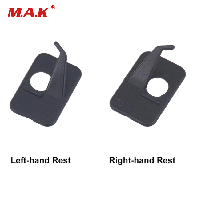 Plastic Adhesive Arrow Rest Left / Right Hand 3 x 2 x 1.3cm Archery Recurve Bow Professional Shooting Hunting