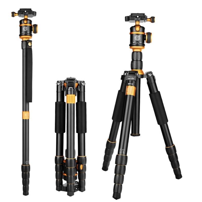 QZSD Q888 Pro Aluminum Alloy Monopod Tripod Portable Detachable Traveling Tripods Ball Head for Canon Nikon