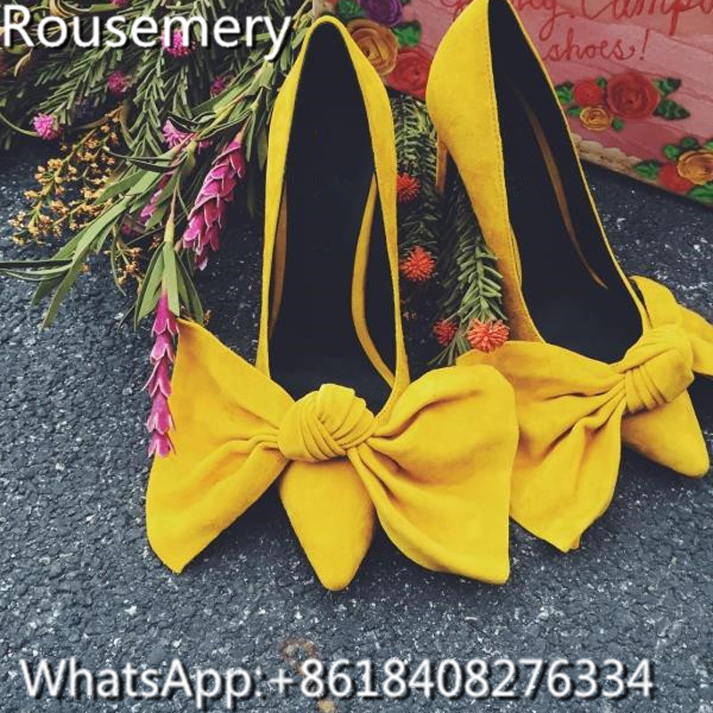 Online Get Cheap Yellow Bow Pumps -Aliexpress.com | Alibaba Group