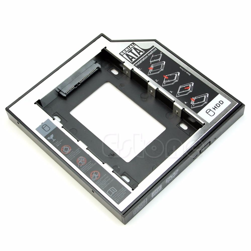 2nd SATA Hard Drive HDD Caddy Adapter For HP EliteBook 8460w 8560w 8530w 8760w