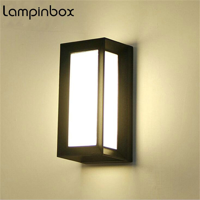 18W LED Outdoor Waterproof Wall Light IP65 Modern Nordic Style Indoor Wall Lamps Living Room Porch Garden Lamp AC90-260V LP-42 18w led outdoor waterproof wall light ip65 modern nordic style indoor wall lamps living room porch garden lamp ac90 260v lp 42