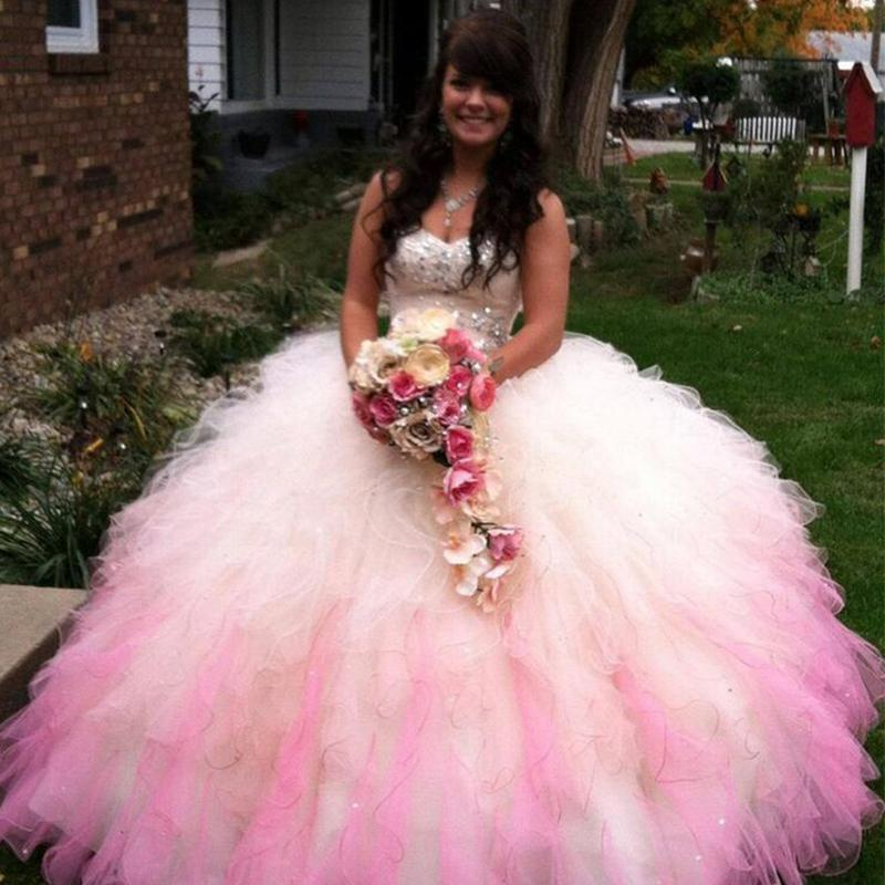 Hot Pink Quinceanera Dresses Masquerade Ball Gowns With Beaded ...