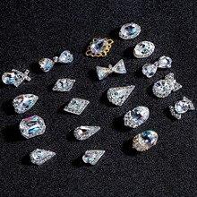 10 шт в форме капли воды/сердца/банта Стразы для ногтей 6x13 мм/8*13 мм Хрустальные стеклянные камни DIY маникюр Дизайн ногтей украшения 3074-3093