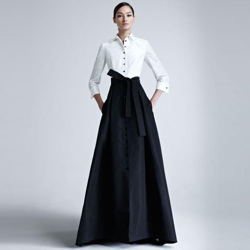 Атласные широкие юбки