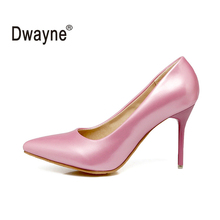 Big Size Women s Shoe 9cm High Heels Pumps NM Party Shoes For Women PU Wedding