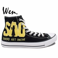Sword Art Online Painted Anime Shoes Men Women S Sneakers Canvas Shoes For Converse All Star