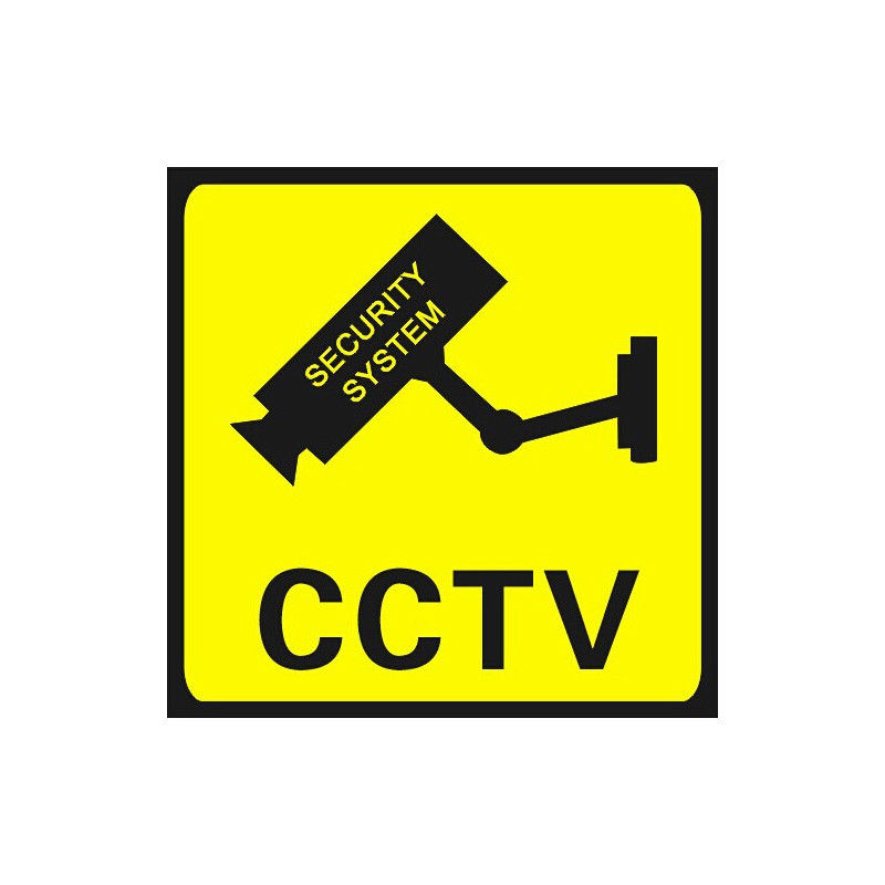 CCTV Warning Sticker Sign Security Video Surveillance Camera Safety Waterproof Wall Alarm Stickers
