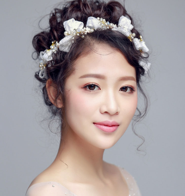 Wedding Hairstyles With Headband And Veil: Aliexpress.com : Buy Wedding Headpiece Pearl Ribbon Lace