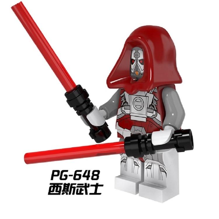 Star Wars Sith Warrior Luke Skywalker Darth Maul Han Solo Bricks Assemble Building Blocks Education Toys for children Gift PG648