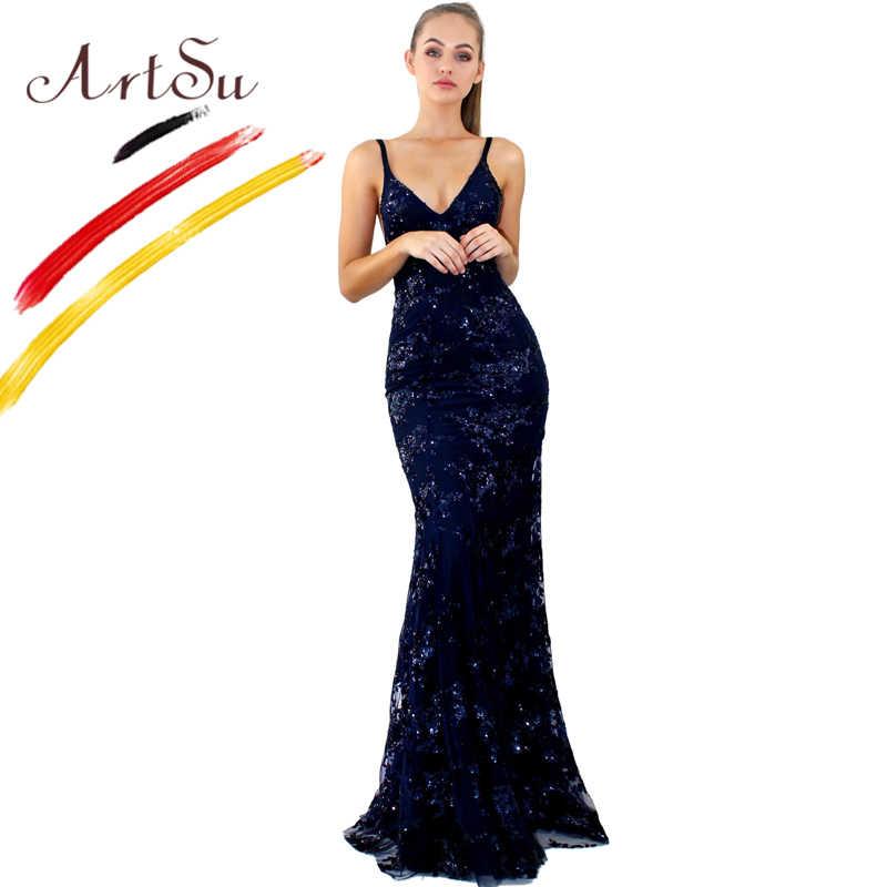 d0ed7cc75e1b576 Арцу сексуальное кружевное вечернее платье с пайетками вечерние с  v-образным вырезом без рукавов с