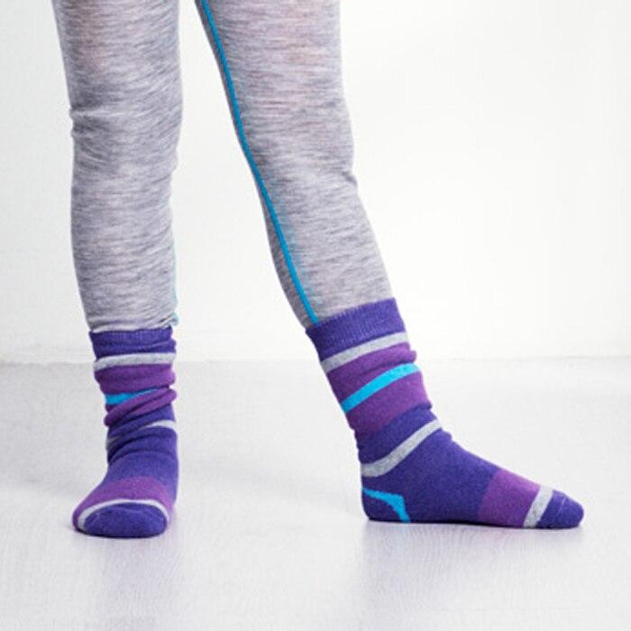 Winter merino wool thick warm sock kids outdoor thermal wool socks for 2-12 years old