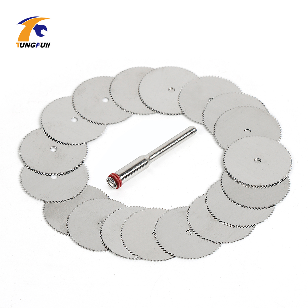 Image 4 - Drop Shipping Tool Set 20pcs/lot 22mm Circular HSS Saw Blades Wood Cutter Dremel Accessory For Rotary Tools Woodworking-in Abrasive Tools from Tools