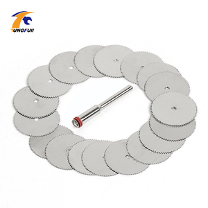 Image 4 - Drop Shipping Tool Set 20pcs/lot 22mm Circular HSS Saw Blades Wood Cutter Dremel Accessory For Rotary Tools Woodworking