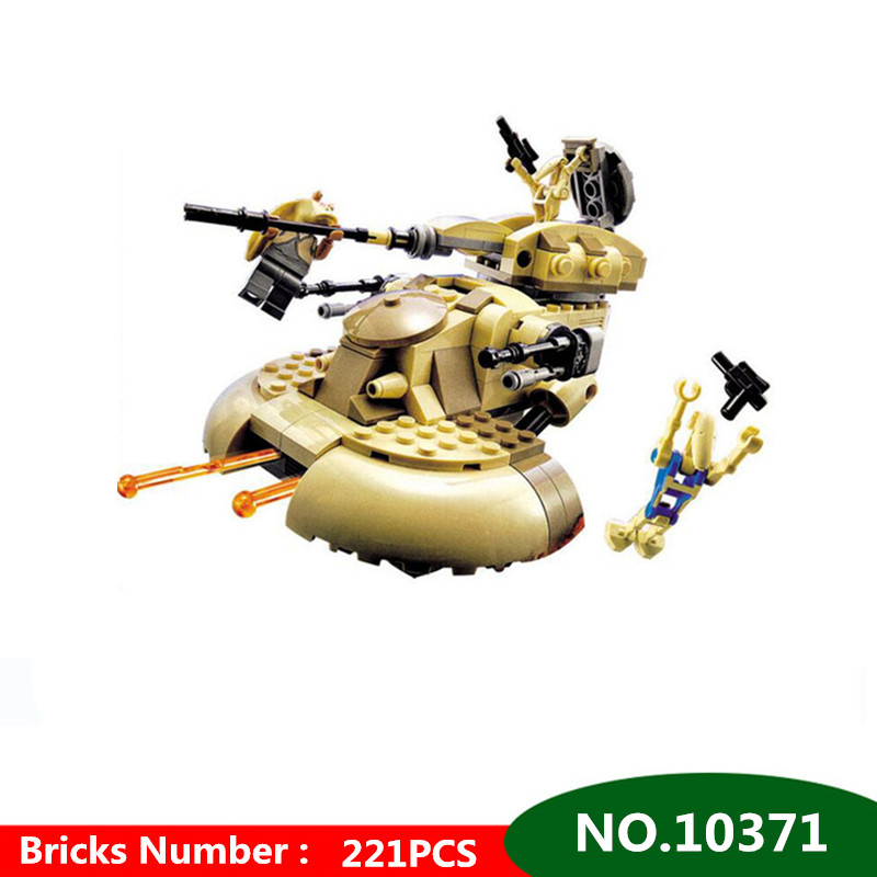 221pcs Bela Diy Star Wars Rogue One AAT Building Block Set Jar Binks Battle Droid Compatible With Legoingly 75029 Kids Toys Gift стоимость