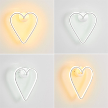 Modern LED Wall Lamps Love Iron Wall Lights Bedroom Living Room Study Lighting Decoration Lamp Girl Room Birthday Gift Luminaire modern led ceiling lights living room kids room lamps iron avize luminarias luminaire led home lighting bedroom boy girl room