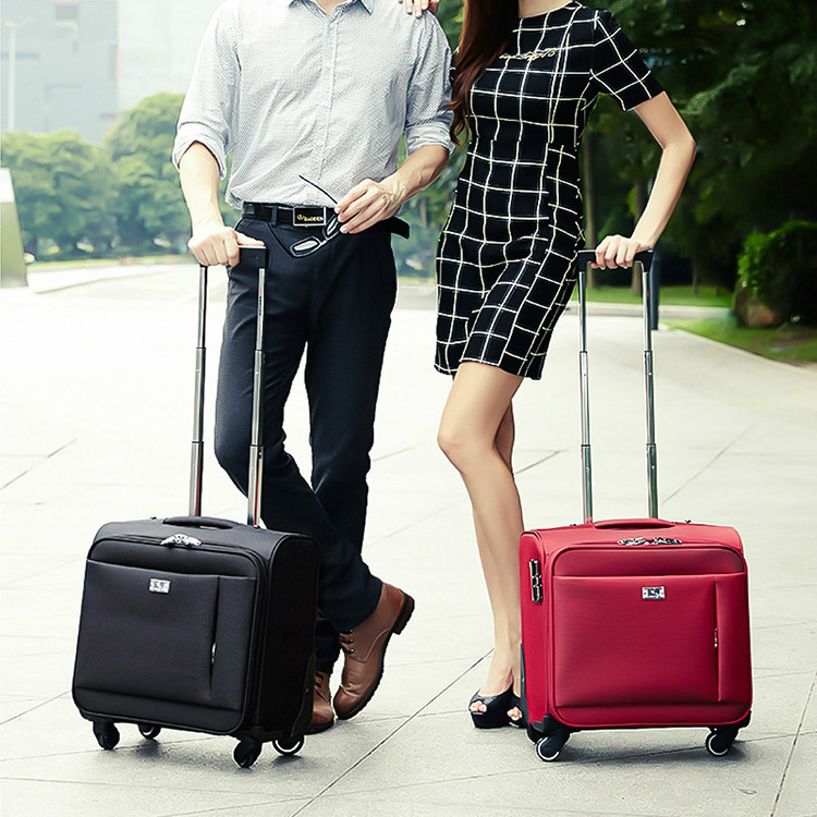 Wholesale!16inch trolley luggage commercial small luggage oxford fabric travel bag computer case,female travel luggage bags a-line