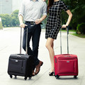 16 pequena bagagem comercial rodas universais carrinho de bagagem tecido oxford bolsa de viagem caso do computador, sacos de bagagem de viagem feminino