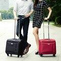 16 ruedas universales carro de equipaje caja de la computadora comercial pequeño equipaje bolsa de viaje de tela oxford, femeninos bolsas de equipaje de viaje