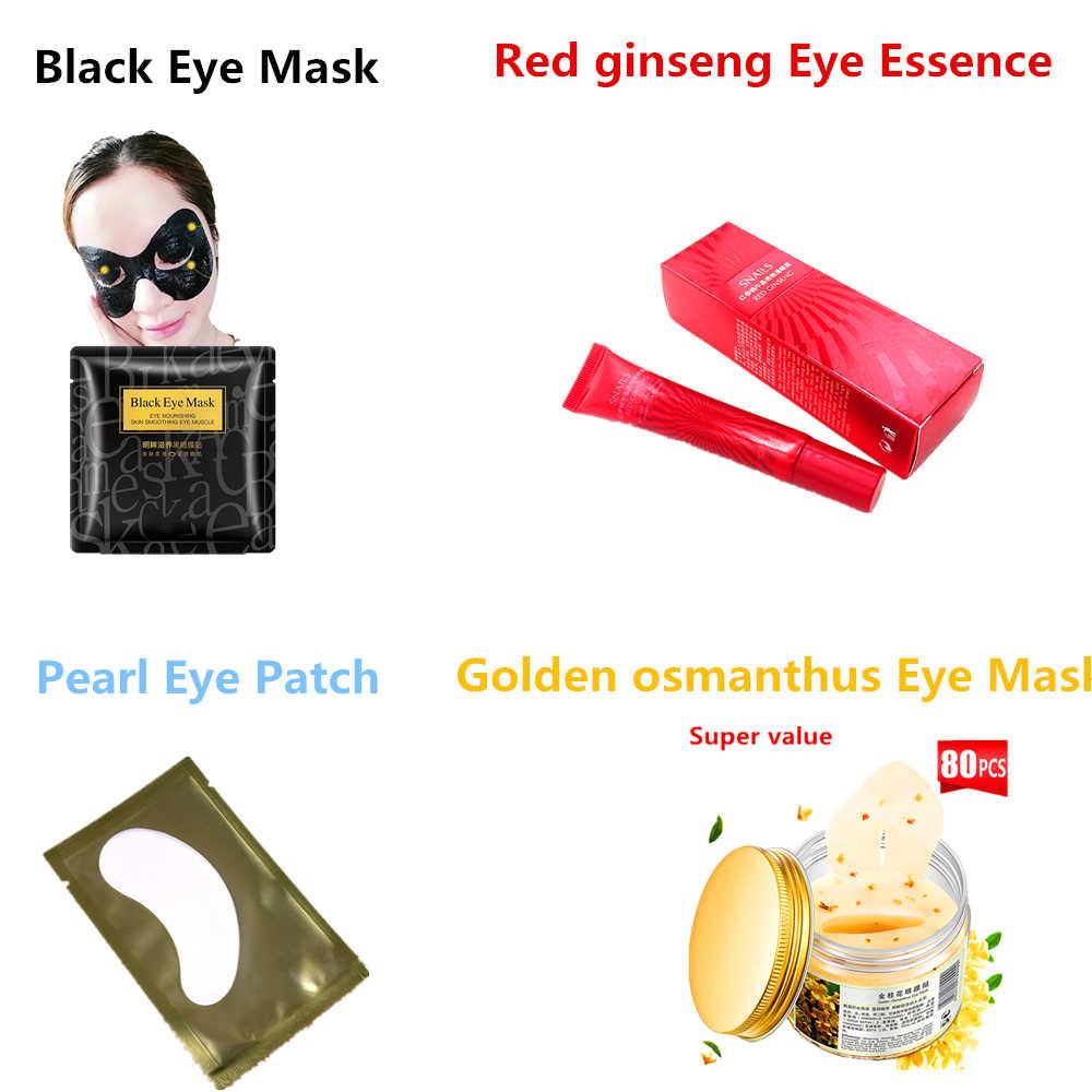 24 K złoty kolagen oczu maska winda ujędrniający przeciwzmarszczkowy Anti-aging nawilżający usunąć oko torby znikną ciemne koła łatki