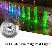 AC/DC 12V /24V Swimming Pool Led 9W 12W 18W IP68 Fish pond Lights RGB Warm/Cold White Waterproof Underwater Light Fountain Lamp dmx compitable high power 9w led rgb spotlight with spike outdoor used edison chip 2 year warranty ds 07 1 9w rgb 12v dc